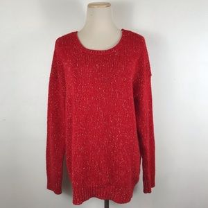 American Eagle AEO Vintage Boyfriend Red Sweater